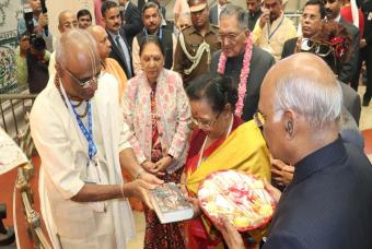 Hon'ble President of India visits Akshaya Patra's Vrindavan kitchen